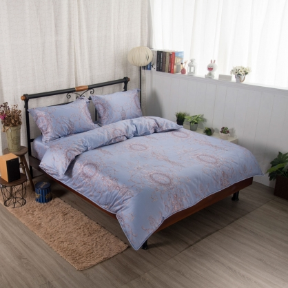 東風年華100%帝王棉四件式兩用被床包組-雙人