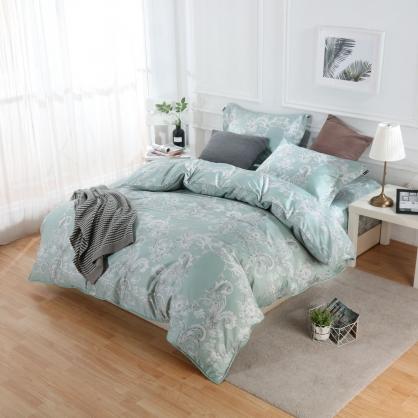 璧顏如絲100%帝王棉四件式兩用被床包組-雙人