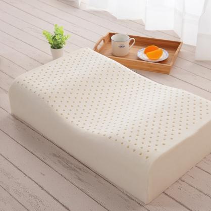 蝶型曲線高密度乳膠枕