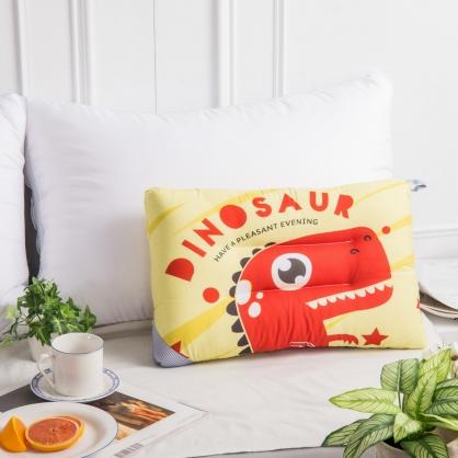 可愛恐龍天絲兒童水洗枕
