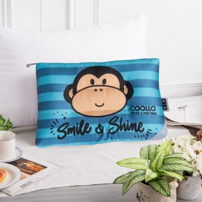微笑萌猴天絲兒童水洗枕