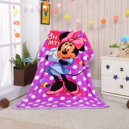 【Disney】米妮公主頂級加厚法蘭絨休閒毯