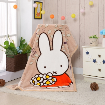 【Miffy】花花米菲頂級加厚法蘭絨休閒毯