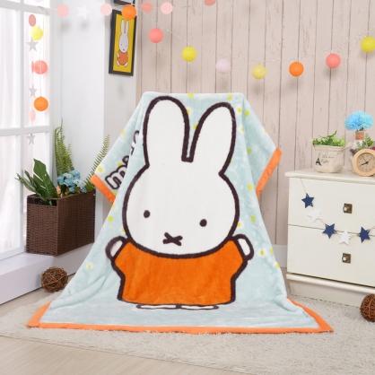 【Miffy】開心米菲頂級加厚法蘭絨休閒毯