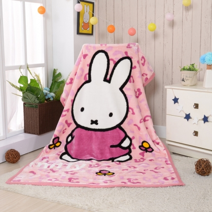 【Miffy】玩耍米菲頂級加厚法蘭絨休閒毯