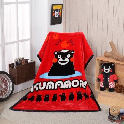【KUMAMO】熊本溫泉頂級加厚法蘭絨休閒毯