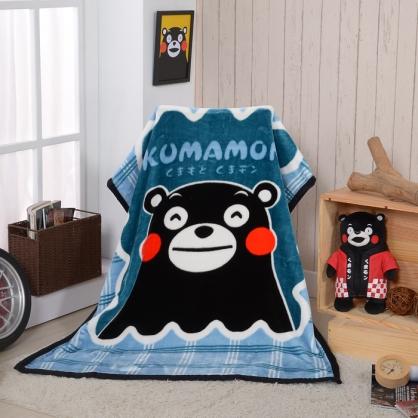 【KUMAMO】熊本好友頂級加厚法蘭絨休閒毯