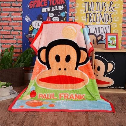 【大嘴猴】汽泡輕盈頂級加厚法蘭絨休閒毯