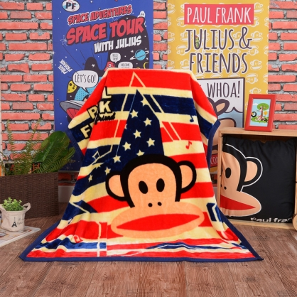 【大嘴猴】美國派對頂級加厚法蘭絨休閒毯