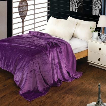 優雅紫法蘭絨毯