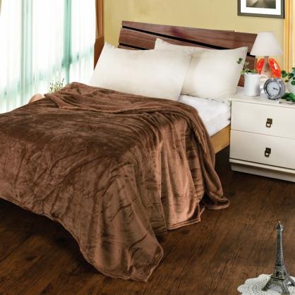 摩卡棕法蘭絨毯