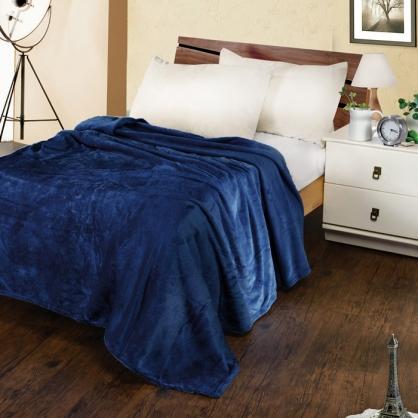 紳士藍法蘭絨毯
