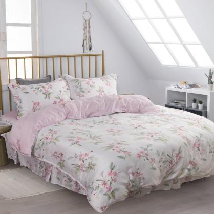搖花繽紛60支萊賽爾天絲四件式床罩兩用被-雙人