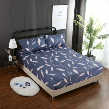 葉舞發想精梳棉三件式床包組-加大