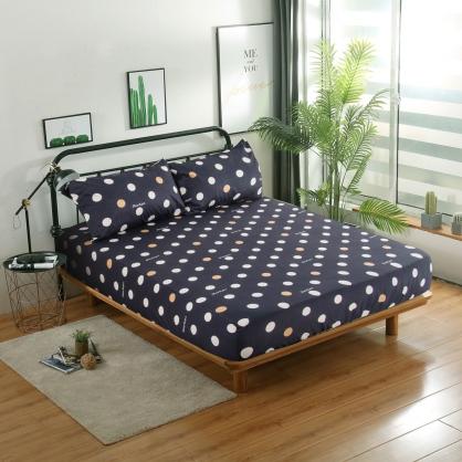 舒揚入眠精梳棉三件式床包組-加大