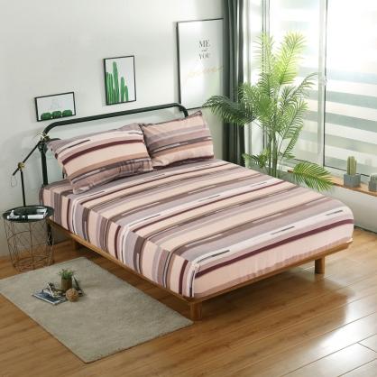 品味生活精梳棉三件式床包組-加大