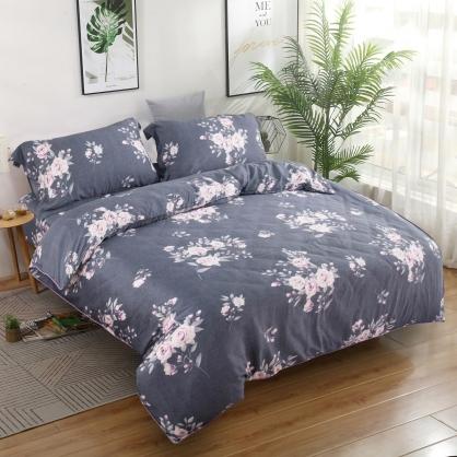 波爾多羅40支紗天絲兩用被床包組-雙人