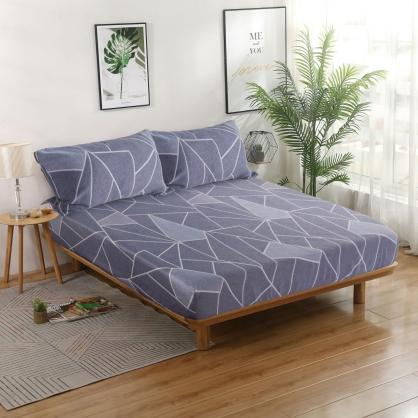 休閒普普40支紗天絲三件式床包組-加大