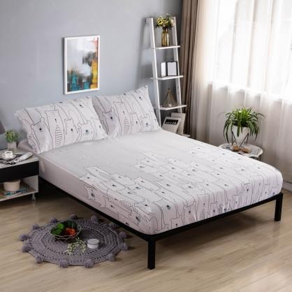 哈囉熊寶40支紗天絲三件式床包組-雙人