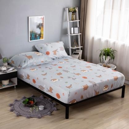 阿嚕阿蒙40支紗天絲三件式床包組-雙人