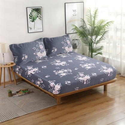 波爾多羅40支紗天絲三件式床包組-雙人
