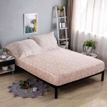 索西米拉40支紗天絲三件式床包組-加大