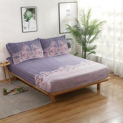 巴托巴菈40支紗天絲三件式床包組-加大