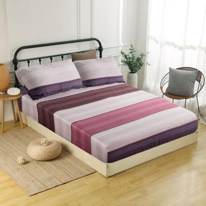 紅貝拉母60支紗天絲三件式床包組-特大