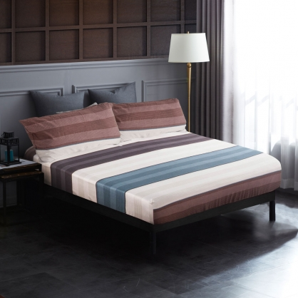 藍貝拉母60支紗天絲三件式床包組-雙人