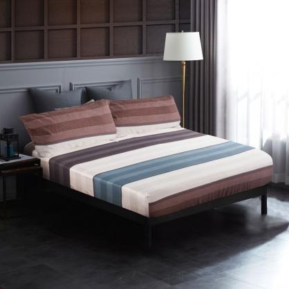藍貝拉母60支紗天絲三件式床包組-加大