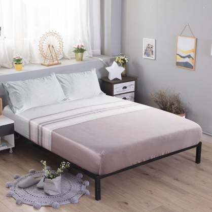 西多諾亞60支紗天絲三件式床包組-加大
