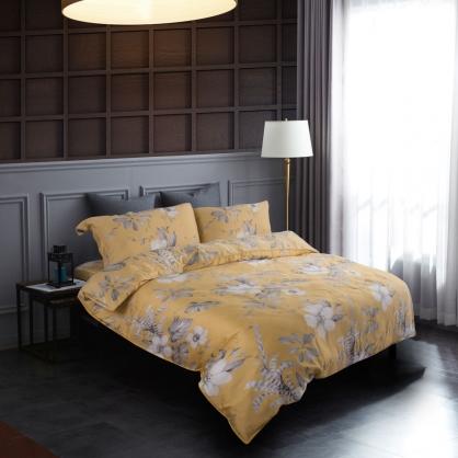 金風秋染60支紗天絲兩用被鋪棉床包組-加大