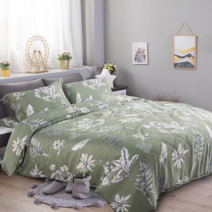 墨墨翠華60支紗天絲兩用被鋪棉床包組-加大