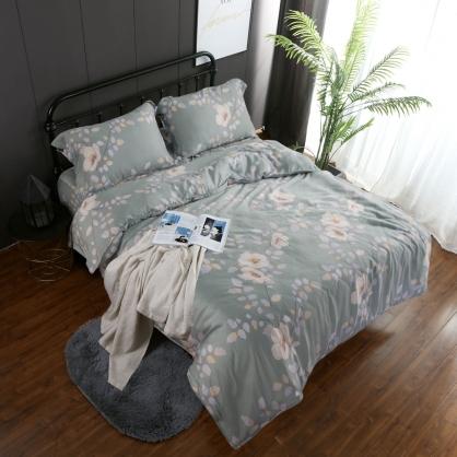 凱爾德蘊60支紗天絲兩用被鋪棉床包組-加大