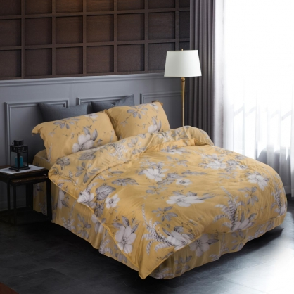 金風秋染60支紗萊賽爾天絲床罩組-雙人