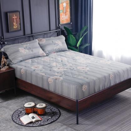 普茉托普60支紗天絲三件式床包組-加大
