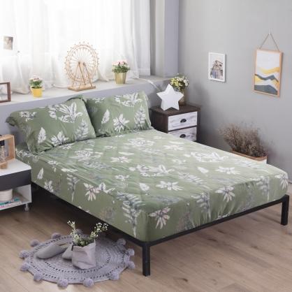 墨墨翠華60支紗天絲三件式床包組-加大