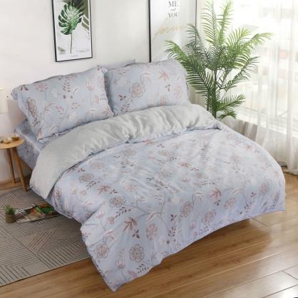 朵朵盛情40支紗天絲兩用被床包組-雙人
