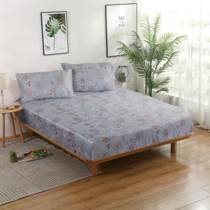 朵朵盛情40支紗天絲三件式床包組-加大