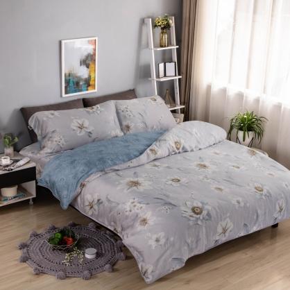 春濃花放40支紗天絲兩用被床包組-雙人