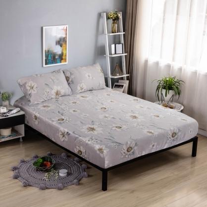 春濃花放40支紗天絲三件式床包組-加大