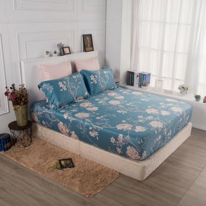 碧水姿彩60支紗天絲三件式床包組-雙人