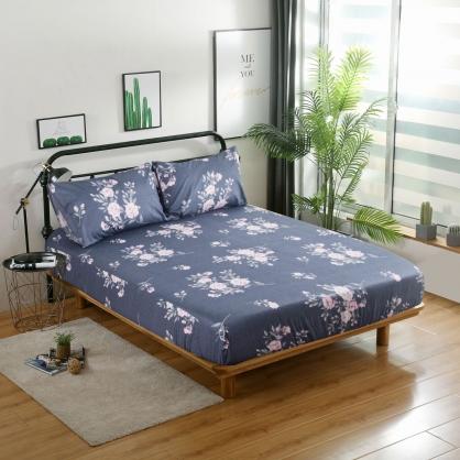 玫瑰風情40支精梳棉三件式床包組-加大