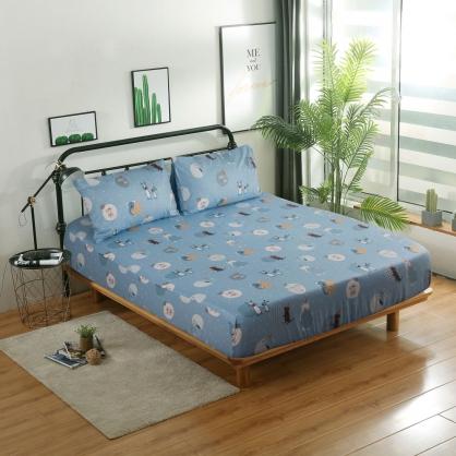 動物星球40支精梳棉三件式床包組-加大