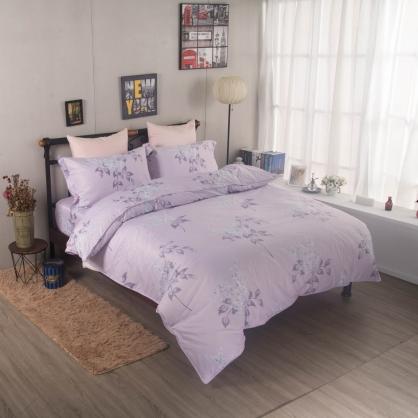 悠紫庭榭舒爽天絲兩用被鋪棉床包組-加大