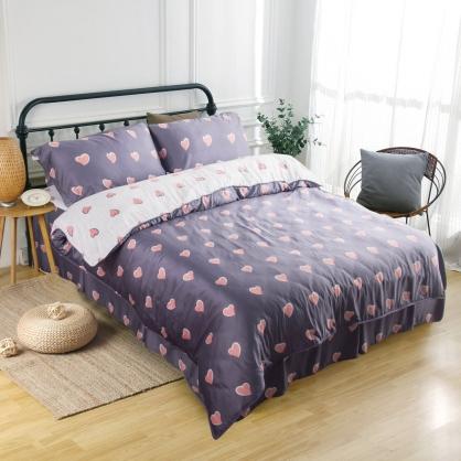 羅蘭愛心60支紗萊賽爾天絲床罩組-雙人