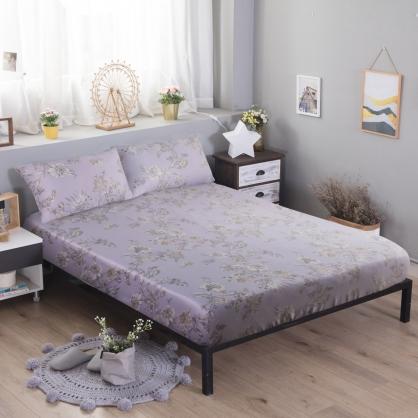 紫迭玉藏60支紗天絲三件式床包組-加大