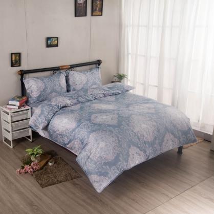 千絮萬嵐埃及長纖細棉兩用被鋪棉床包組-雙人