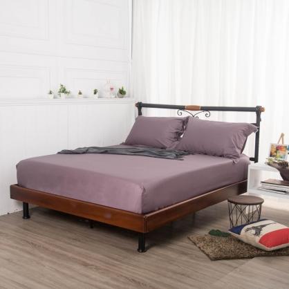 葡峰紫埃及長纖細棉三件式床包組-加大