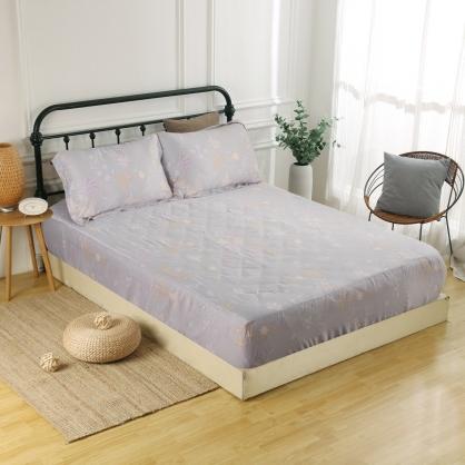 繡夜梓蘭60支紗天絲三件式床包組-雙人